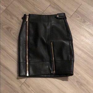 House of CB Black Biker Style Skirt XS